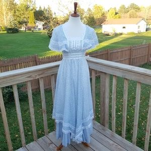 Vintage Gunne Sax Blue Prairie Dress